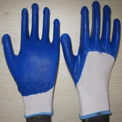 Sell blue nitrile coated working gloves NG1501-11