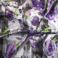 Satin Fabric with Digital Printing Finish
