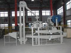 Buckwheat hulling line