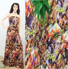 Printed Rayon Fabric for Dress