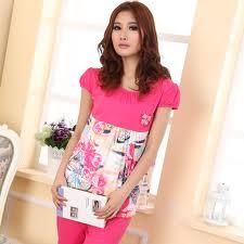 Women′s Cotton Loungewear Sleepwear Pajamas