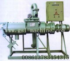 Liquid and solid separating machine for animal