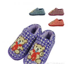 2012新款棉拖鞋 耐磨耐脏防滑 卡通熊时尚硬底棉拖鞋C-A-7