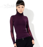 Women's Long Sleeve Knitted Tight Fit Blouses