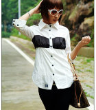 Fashion Ladies' 100% Cotton Blouse (SA0023)