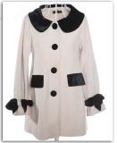 Ladies Winter Long White Wool Coats (1011201)