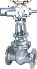 Gate valves flanges with electric drive