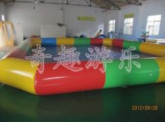 Inflatable pool for water ball