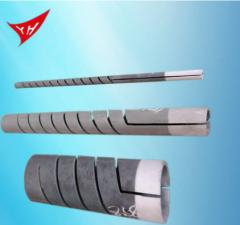 Heating element  silicon carbide double spiral