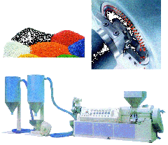 Granulating machines for polymers