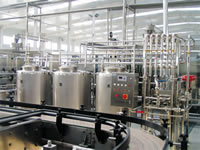 Dinking juices and tea production line