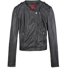 Women′s Varsity PU Leather Jacket (CHNL-PUJT054)