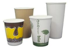 Compostable PLA lined paper hot cups