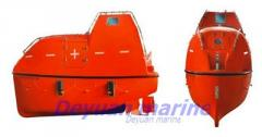 Lifeboats and on-duty boats self-falling