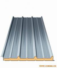 Flat roofing sheeting made of galvanized iron