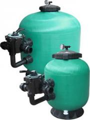 Filter equipment for pools