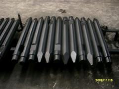 Hydraulic rock breaker/hammer chisel points for