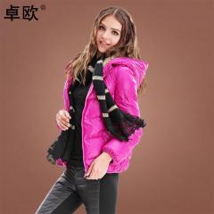 轻薄短款羽绒服女装外套