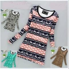 秋冬保暖女加绒加厚打底衫中长款修身百搭羊绒针织衫