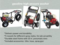 Cold waster/gasoline high pressure washer