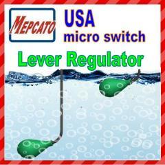Lever regulator, float switch, floater