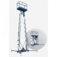 Twin mast climbing work platforms
