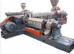 Twin screw extruder pelletizing system
