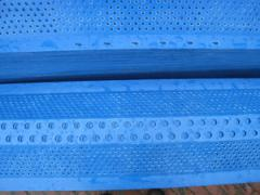 Section of protections corrugated