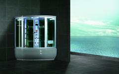 Excellent whirlpool massage steam shower room