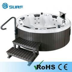 Luxury round 6-person whirlpool massage hottub,