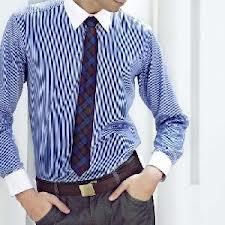 Long Sleeve Shirts White Collar (SH1014)