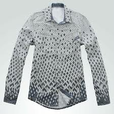 Gradual Matrix Printed Men′s Shirt (LC-689)