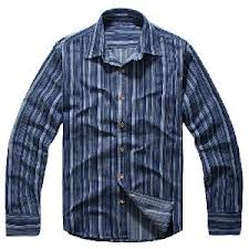 Classical Blue Vertical Stripes Cotton Shirts
