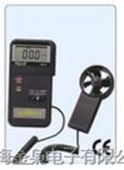 Hand induction anemometer