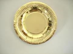 Golden paper plate