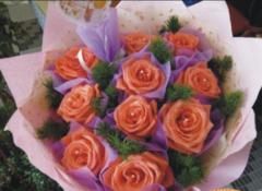 无懈可击-10朵粉红玫瑰生日花束珠海送货上门鲜花定购