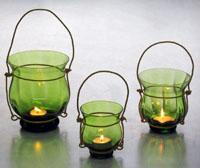 Romantic green holder