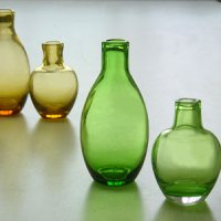 Color bottle shape vase