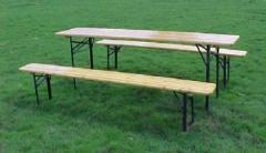Wooden beer table set