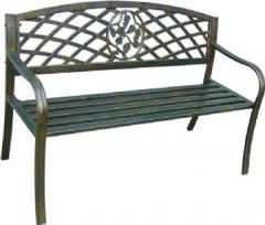 Cast iron and steel garden bench