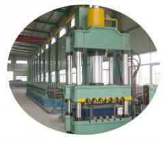 Three wave guardrail plate roll forming machine