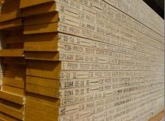Wood scaffold board