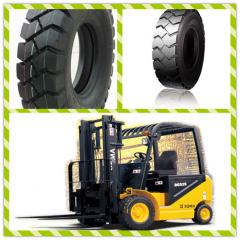 Tires for warehouse forklifts