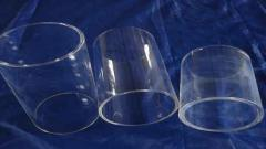 Transparent quartz glass crucibles, basins, cups,