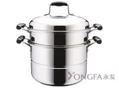 Stainless steel two-layers steamer pot