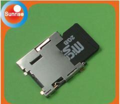 Push push micro sd card connector-H=1.45MM