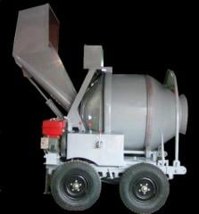 JZF 350 hydraulic concrete mixer with diesel