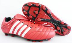 Soccer Shoes With PU Upper/Rubber Outsole, OEM and