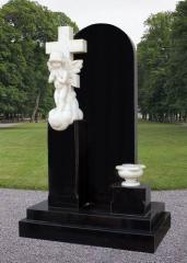 白色大理石墓碑,雕刻碑,天使碑