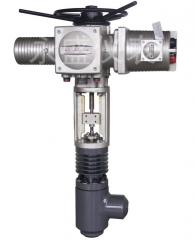 Power-operated high pressure angle control valve